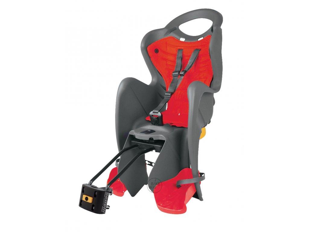 Zadní cyklo sedačka Bellelli MR FOX STANDARD B FIX šedá červená
