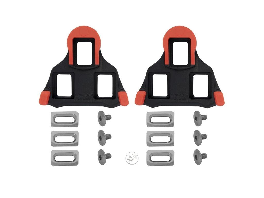 Zarážky Shimano SPD SL SM SH10 pevné, červeno černé