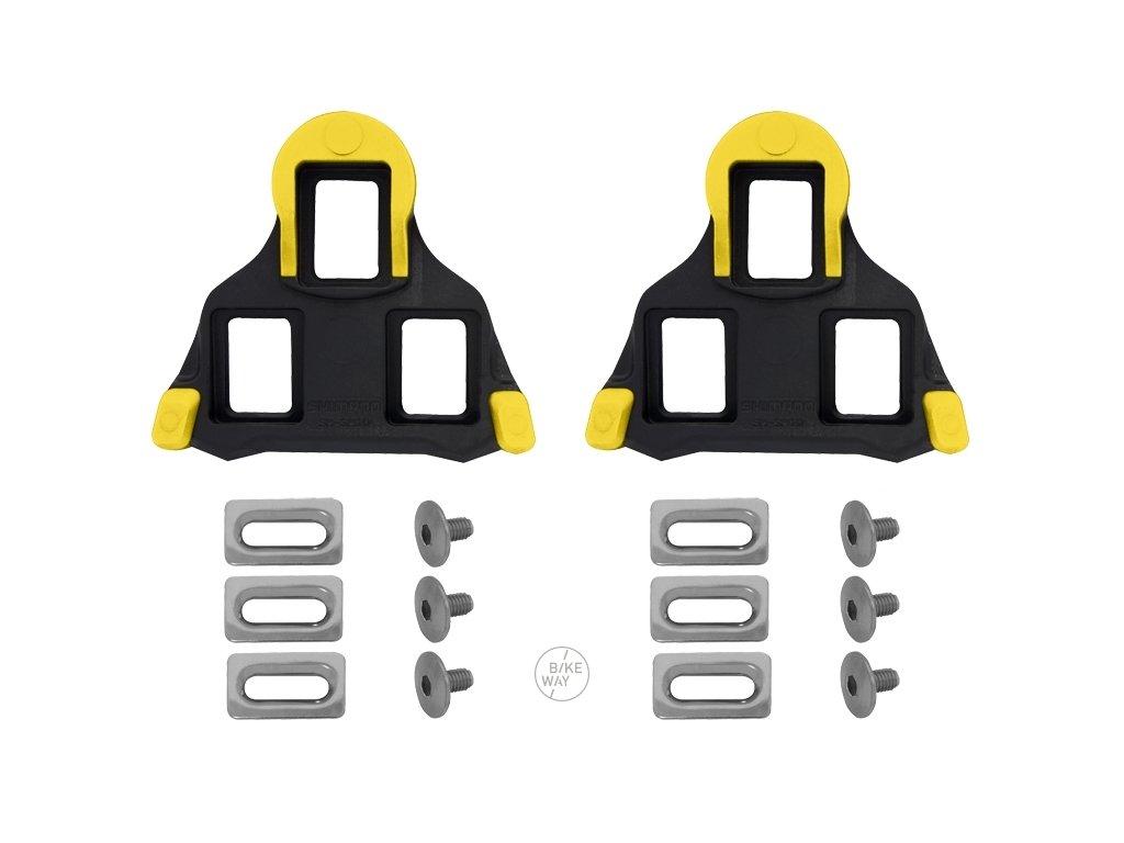 Zarážky Shimano SPD SL SM SH11 s vůlí, žluto černé