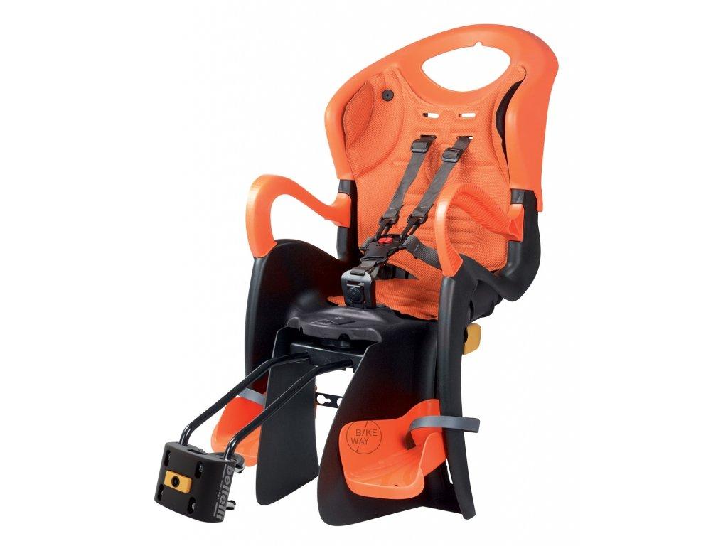 Cyklo sedačka zadní Bellelli TIGER STANDARD B FIX černo oranžová