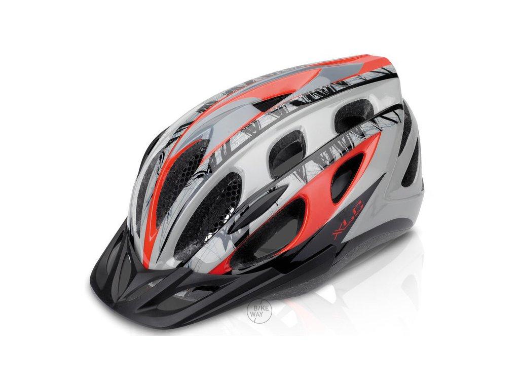 Cyklistická přilba XLC BH-C18 červená/šedá L/XL (54-58cm)