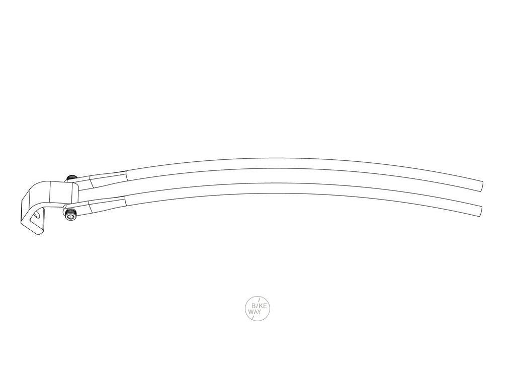 Speciální vzpěry Racktime Standit pro modely hardtail Haibike Xduro, Sduro