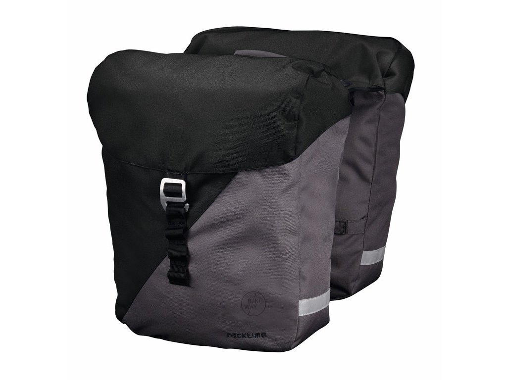 Brašny na zadní nosič Racktime Vida černá/šedá včetně Snapit adaptéru