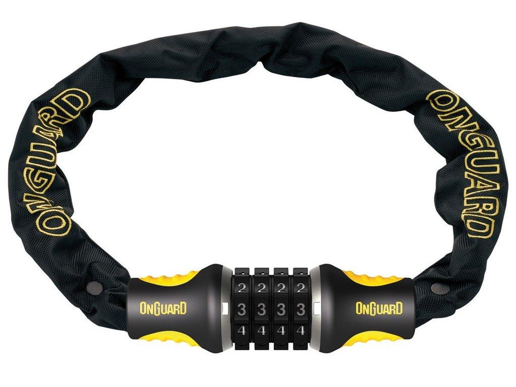 Řetězový kódový zámek na jízdní kolo Onguard Mastiff 8124C 75cm / 4mm