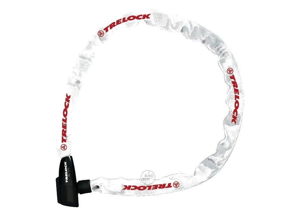 Řetězový zámek na kolo Trelock BC 115 bílá 60 cm 4mm