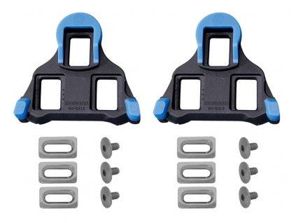 Zarážky SPD Shimano SL SM-SH12 s vůlí modro-černé