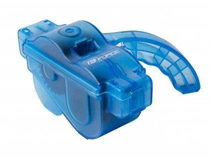 Cyklo čistička řetězů FORCE plastová s rukojetí, modrá
