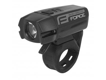 Světlo přední FORCE BUG 400LM USB černé