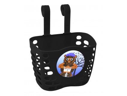 Košík na řídítka dětský FORCE černý