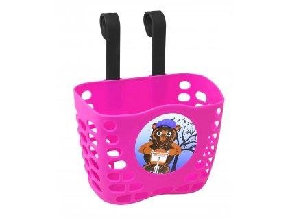 Košík na řídítka dětský FORCE růžový