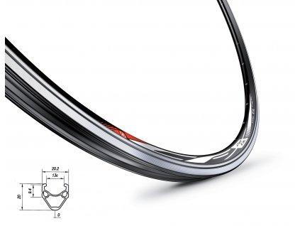 Ráfek MACH1 CFX 622x13 36 děr černý
