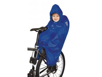 Pláštěnka na dítě v cyklo sedačce FORCE poncho modré