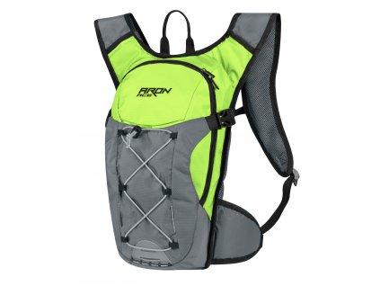 Cyklistický batoh FORCE ARON ACE fluo šedý 10 l