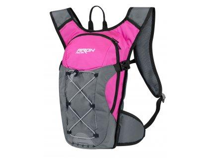 Cyklistický batoh FORCE ARON ACE růžový šedý 10 l