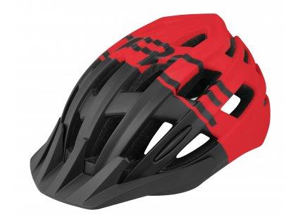 Cyklo přilba FORCE CORELLA MTB černá červená