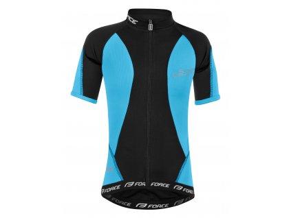 Cyklistický dres dětský FORCE KID STAR modrý