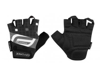 Cyklistické rukavice FORCE SQUARE černé