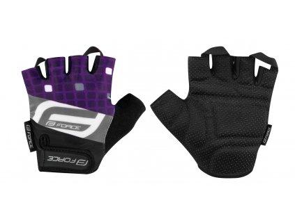 Cyklistické rukavice FORCE SQUARE fialové