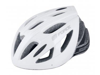 Cyklistická přilba FORCE SWIFT bílá