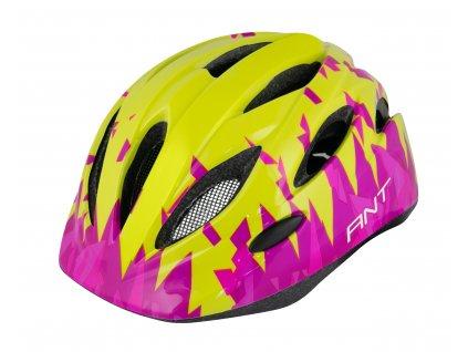 Dětská cyklistická přilba FORCE ANT fluo růžová