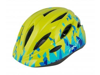 Dětská cyklistická přilba FORCE ANT fluo modrá
