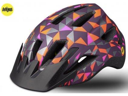 Dětská cyklistická přilba Specialized SHUFFLE LED SB MIPS CAST BERRY GEO CHLD (50 – 55 cm)