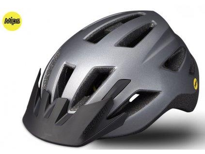 Dětská cyklistická přilba Specialized SHUFFLE LED SB MIPS CHAR CHLD (50 – 55 cm) šedá