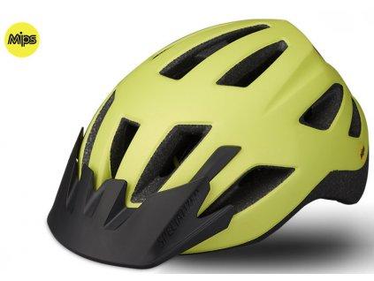 Dětská cyklistická přilba Specialized SHUFFLE LED SB MIPS ION CHLD (50 – 55 cm) fluo žlutá matná