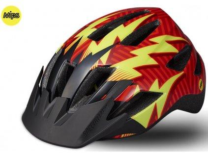 Dětská cyklistická přilba Specialized SHUFFLE LED SB MIPS RKTRED červená