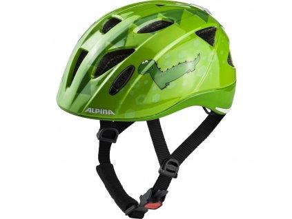Dětská cyklistická přilba Alpina Ximo Flash zelená dino
