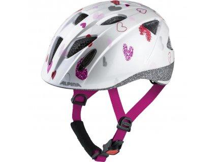 Dětská cyklistická přilba Alpina Ximo white hearts