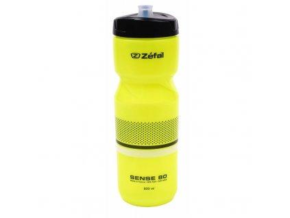 Cyklistická láhev Zéfal Sense M80 neon žlutá 800 ml