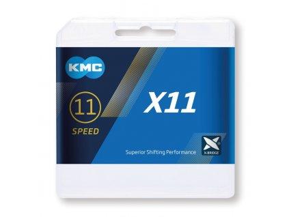 Řetěz KMC X11 stříbrný černý 11 rychlostní 118