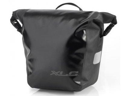 Brašny voděodolné na zadní nosič kola XLC BA W33 černá (2 ks)