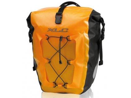 Brašny voděodolné na zadní nosič kola XLC BA W38 žlutá (2ks)