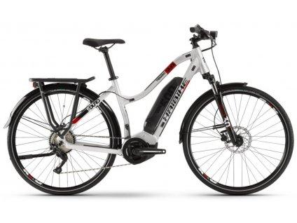 Dámské trekingové elektrokolo Haibike SDURO Trekking 2.0 2020 Yamaha 500 Wh stříbrné