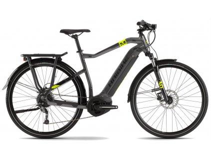 Pánské trekingové elektrokolo Haibike SDURO Trekking 2 5 2020 Yamaha i400 Wh titan černé