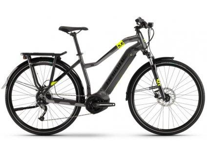 Dámské trekingové elektrokolo Haibike SDURO Trekking 2.5 2020 Yamaha i400 Wh titan černé