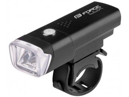 Světlo přední na kolo FORCE LUX 100LM baterie, černé