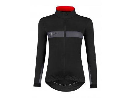 Dámská zimní cyklistická bunda FORCE BRIGHT LADY černá