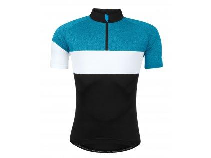 Cyklistický dres FORCE VIEW černo modro bílý