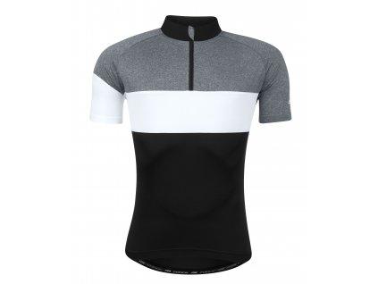 Cyklistický dres FORCE VIEW černo-šedo-bílý