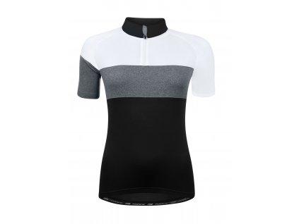 Dámský cyklistický dres FORCE VIEW LADY černo-bílo-šedý