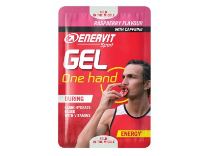 ENERVIT SPORT GEL One hand +kofein, 12,5ml, malina