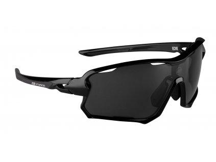Cyklistické brýle FORCE EDIE, černé, černé skla