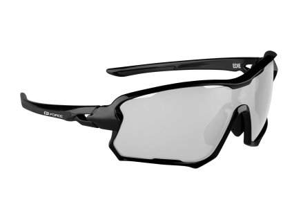 Cyklistické brýle FORCE EDIE černé, fotochromatické skla