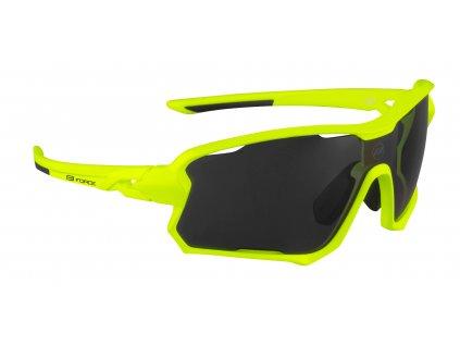 Cyklistické brýle FORCE EDIE fluo, černé skla