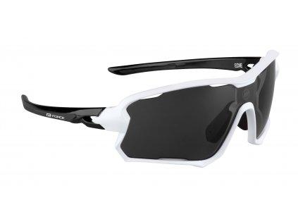 Cyklistické brýle FORCE EDIE, bílo černé, černé skla