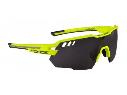 Cyklistické brýle FORCE AMOLEDO, fluo šedé černé skla