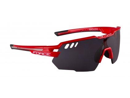 Cyklistické brýle FORCE AMOLEDO červeno šedé, černé skla